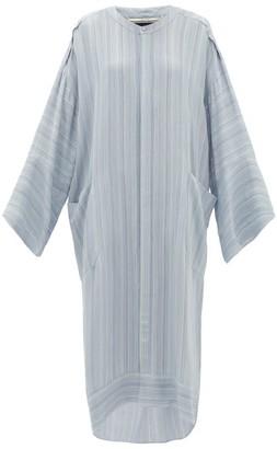 Roland Mouret Petra Crepe Tunic Dress - Womens - Light Blue