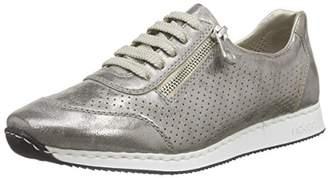 Rieker Women's 56016 Low-Top Sneakers, Grey (Grey / 40)