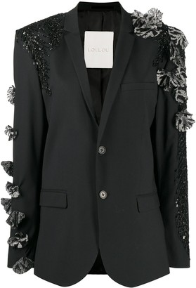 Loulou Embellished Applique Blazer