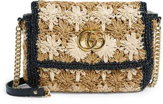 Gucci Small Raffia Marmont Shoulder Bag
