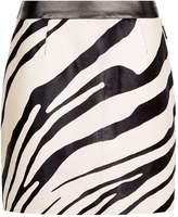 Roberto Cavalli Haircalf A-Line Mini Skirt