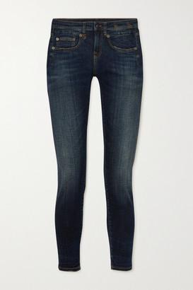R 13 Boy Mid-rise Skinny Jeans - Mid denim