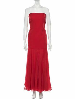 Giulietta Strapless Long Dress Red
