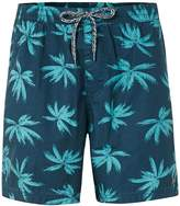 Globe Blue Palms Print Shorts*