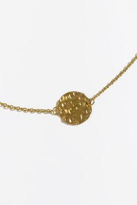 francesca's Zoey Hammered Disc Pendant Necklace - Gold