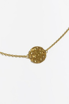 francesca's Zoey Hammered Disc Pendant Necklace - Gold