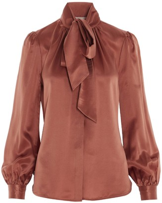 Tory Burch Satin Bow Blouse