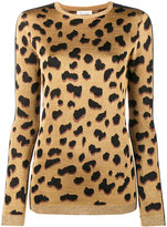 Bella Freud Iggy leopard print jumper - women - Polyester/Rayon/Viscose/Metallic Fibre - XS