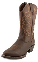 Justin Boots All Star Men Round Toe Leather Brown Western Boot.