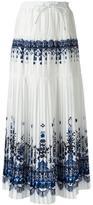 Sacai tribal lace maxi skirt - women - Cupro/Polyester/Rayon - 3