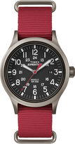 Timex Expedition Scout Mens Red Fabric Strap Watch