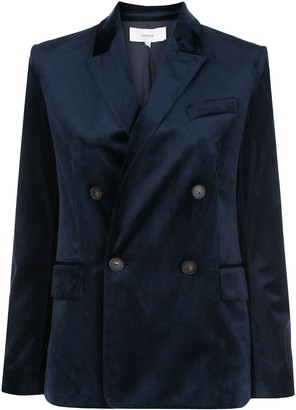 Vince Velvet Double-Breasted Blazer