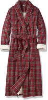 L.L. Bean Tartan Flannel Sherpa-Lined Robe