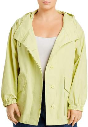 Eileen Fisher Plus Hooded Mid-Length Jacket