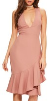 Missguided Women's Plunge Ruffle Body-Con Dress