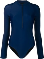 Perfect Moment long-sleeved zip-front swimsuit