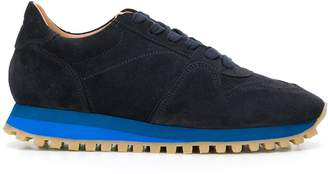 Closed lace-up low-top sneakers