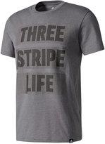 adidas Men's Three Stripe Life Graphic T-Shirt
