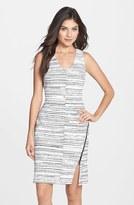 Julia Jordan Women's Stripe Front Knit Body-Con Dress