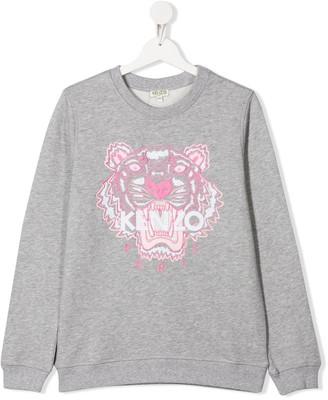 Kenzo TEEN tiger embroidered sweatshirt