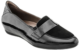 Earthies Black Patent Leather Bremen Loafer