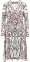 Etro Printed V-Neck Midi Dress