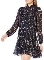 BCBGMAXAZRIA Beccy Printed Silk Dress