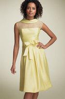 Illusion Silk Blend Cocktail Dress