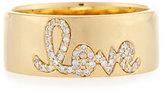 Sydney Evan Pavé; Diamond Love Ring, Size 6.5