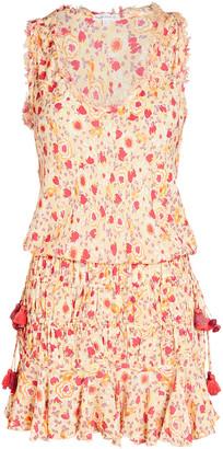 Poupette St Barth Soledad Floral Print Mini Dress