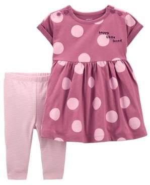 Carter's Baby Girls Polka Dot Dress and Legging Set, 2 Pieces