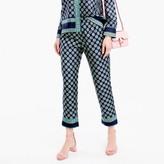 J.Crew Cropped silk pant in foulard print