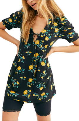Free People Adelle Floral Print Tunic