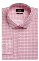 Hugo Boss Jenno Slim Fit, Cotton Dress Shirt 14.5 Red