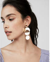Express mixed geometric drop earrings