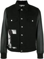 McQ by Alexander McQueen Billy bomber jacket - men - Cotton/Calf Leather - 50