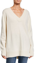 Co Wool-Cashmere V-Neck Boyfriend Sweater