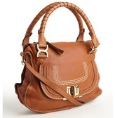 Chloé caramel leather cross body 'Marcie' satchel