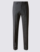 M&S Collection Big & Tall Tailored Fit Wool Blend Trousers