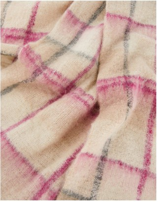Monsoon Check Blanket Scarf - Pastel
