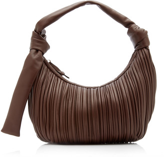 Neous Neptune Pleated Leather Shoulder Bag
