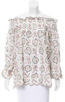 Zimmermann Embroidered Off-the-Shoulder Blouse