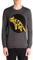 Fendi Jaguar Long Sleeve Crewneck Sweater