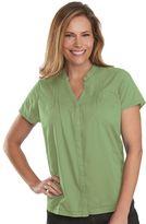 Woolrich Women's Clare Woods Solid Pintuck Shirt