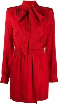 Saint Laurent Tied Neckline Wrap Style Dress