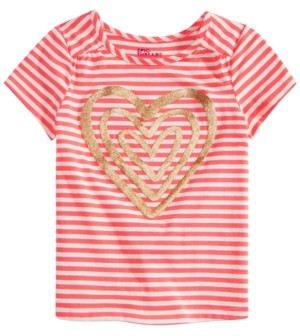 Epic Threads Little Girls Striped Heart Top, Created for Macy's