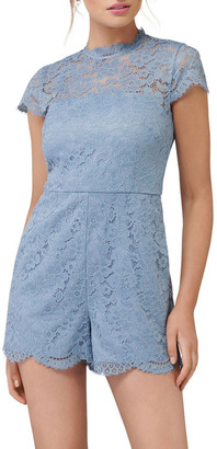Forever New Rae Lace Cap Sleeve Playsuit