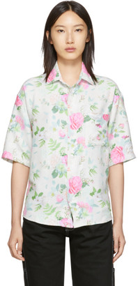 Noon Goons White and Multicolor Prom Shirt
