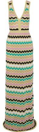 M Missoni Metallic Crochet Cotton-Blend Maxi Dress