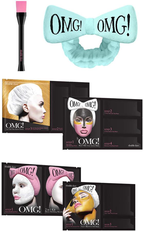 Double Dare Mint (Sky Blue) Omg Go Bold And Treat Your Skin Mint Mega Hair  Band + Mask Brush + 4 Premium Masks